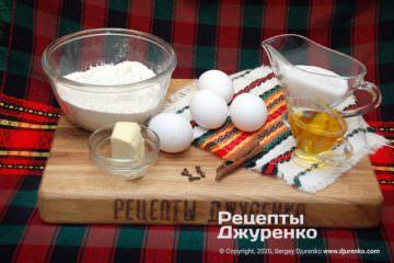 Шаг 1: ингредиенты для печенья