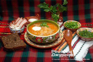 Фото рецепта суп з квашеної капусти