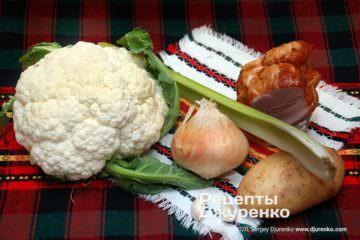 Крок 1: овочі та цвітна капуста