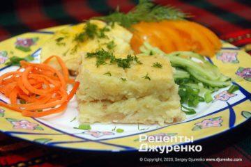 Готовое блюдо картофельная запеканка в духовке