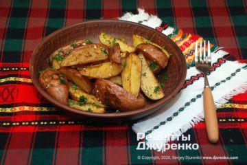 Фото рецепта картошка по-деревенски в духовке
