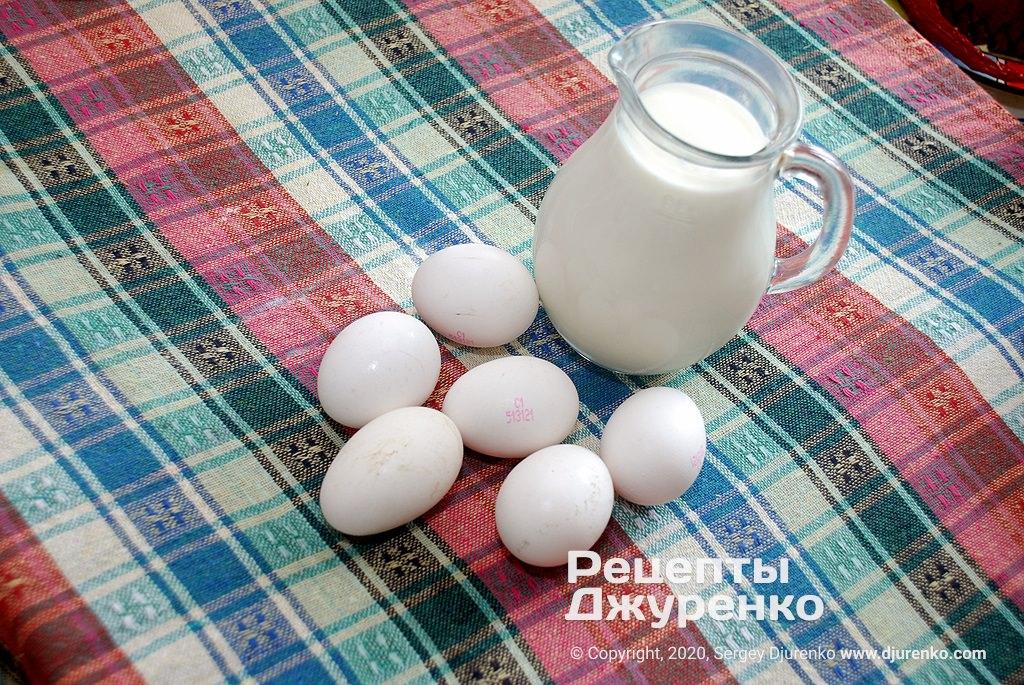 Молоко та яйця.