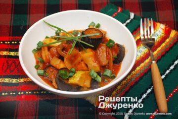 Фото рецепта тушковані овочі