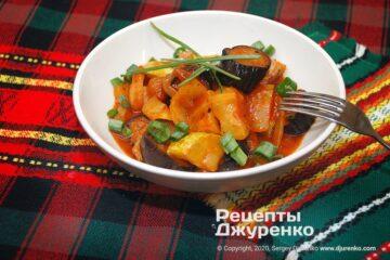 Готова страва тушковані овочі