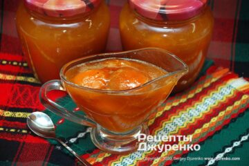 Фото рецепта варення з абрикос