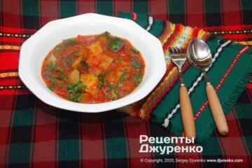 Фото рецепта кабачки в томатном соусе