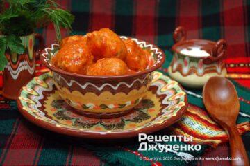 Фото рецепта рыбные фрикадельки в томатном соусе