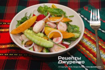 Фото рецепта салат с редиской