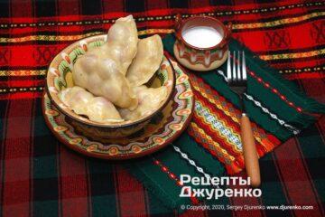 Фото рецепта вареники с вишнями