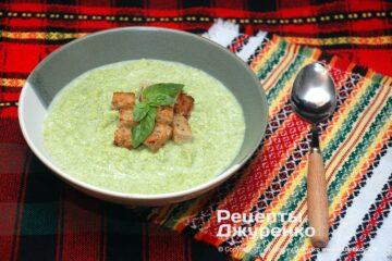 Фото рецепта крем-суп з брокколі