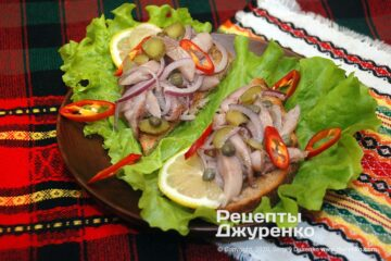 Фото рецепта закуска из селедки