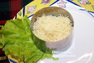 Шаг 2: натертый твердый сыр