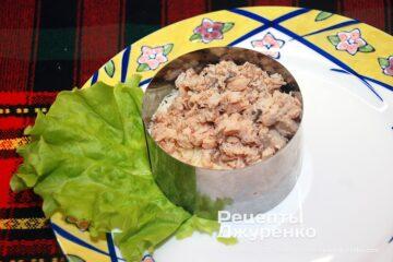 Шаг 3: консервированный лосось