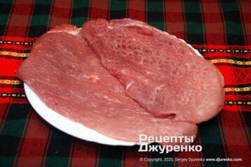 Шаг 2: подготовленное к жарке мясо