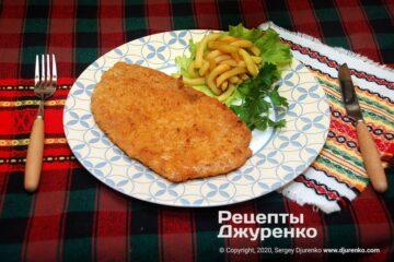 Фото рецепта шницель из свинины
