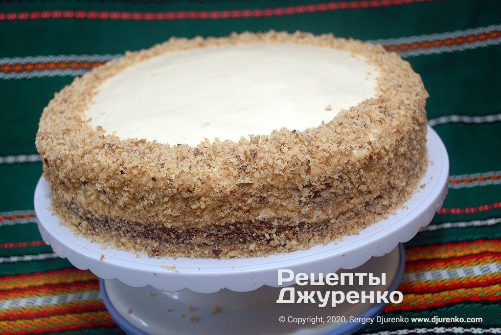 Ореховая посыпка для торта.