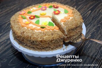 Фото рецепта морквяний торт