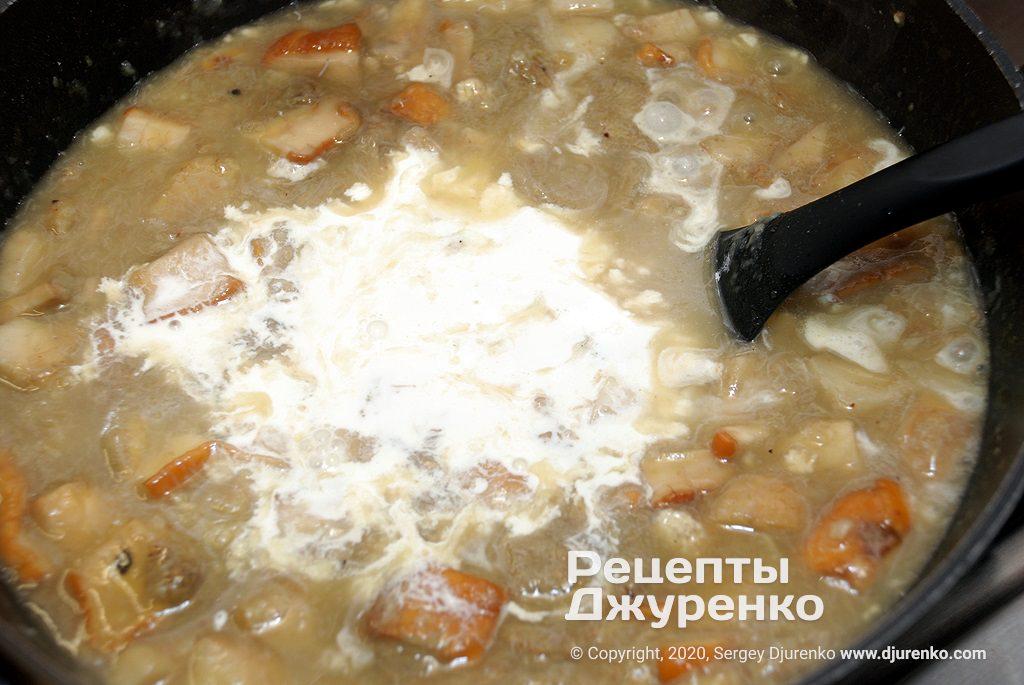 Крем-суп со сливками.