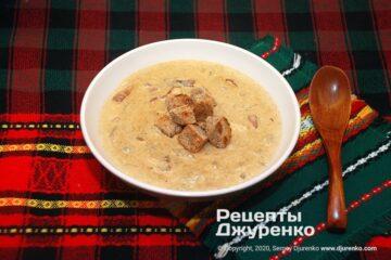 Фото рецепта суп из белых грибов