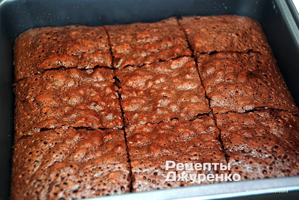 Испеченное шоколадное тесто.
