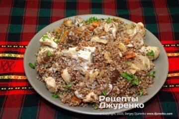 Фото рецепта гречка с курицей