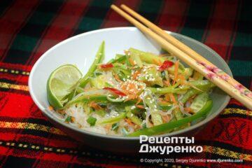 Фото рецепта салат з фунчозою