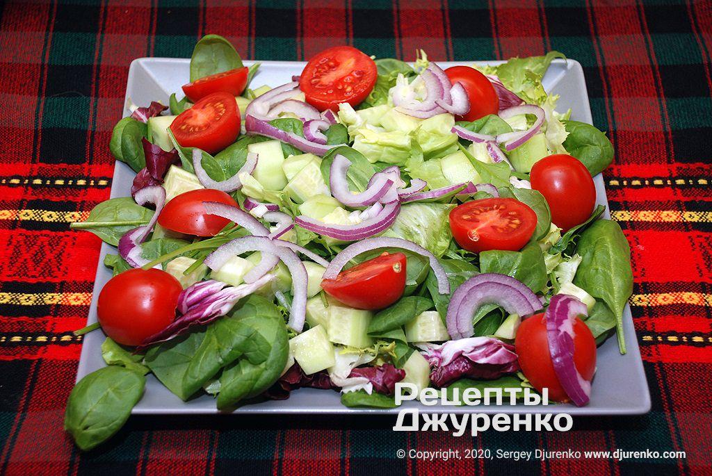 Овощная основа для салата.