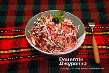 Фото рецепта салат щетка
