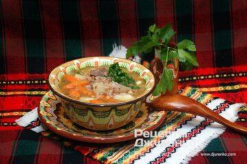 Фото рецепта суп з гречкою