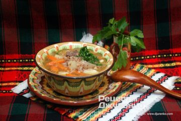 Фото рецепта суп с гречкой