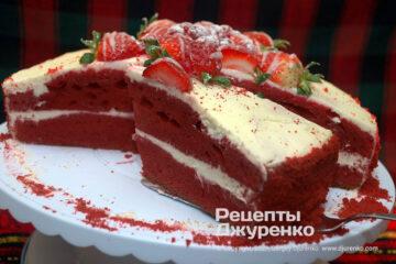 Фото рецепта торт красный бархат