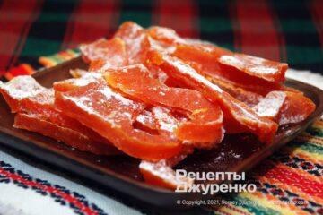 Фото рецепта цукати з гарбуза