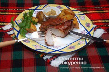 Фото рецепта жаркое из свинины