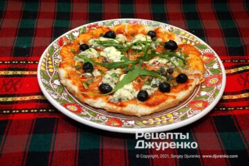 Фото рецепта быстрая пицца на кефире