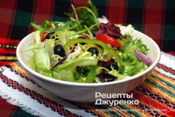 Фото рецепта салат з оливками