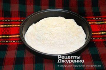 Фото рецепта тісто для піци на кефірі
