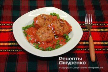 Фото рецепта їжачки в духовці