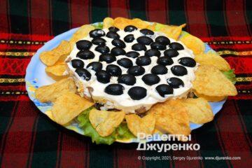 Фото рецепта салат соняшник