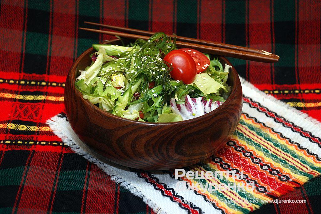 овочевий салат з морською капустою