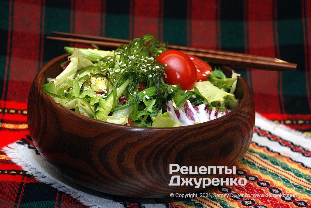 Готова страва Салат з морською капустою.