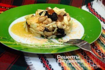 Фото рецепта десертный салат с яблоками