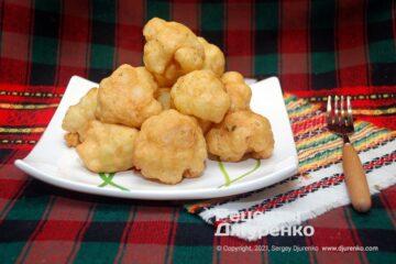 Фото рецепта цвітна капуста в клярі