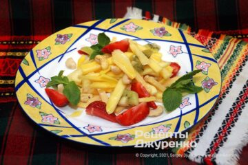 Фото рецепта салат з манго
