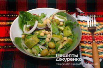 Фото рецепта салат з нутом