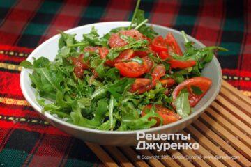 Фото рецепта салат с рукколой