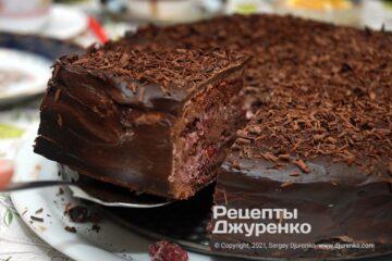Фото рецепта торт п'яна вишня