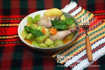 Фото рецепта курка з кабачками