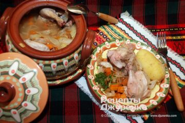 Фото рецепта курица в горшочке