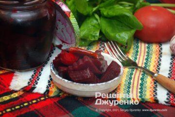 Фото рецепта маринованная свекла