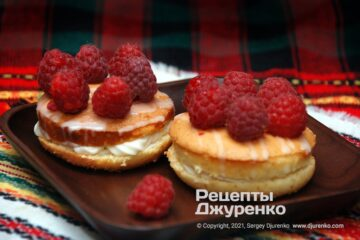 Фото рецепта бісквітні тістечка